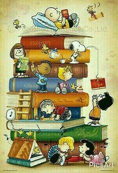 Charlie Brown Snoopy & The Peanuts Gang Peanuts Gang, Comics Peanuts, Peanuts Cartoon, Snoopy Love, Snoopy Et Woodstock, Charlie Brown Und Snoopy, Snoopy Wallpaper, Reading Wallpaper, Peanuts Characters