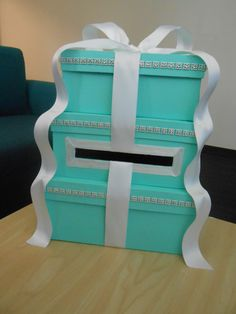 Tiffany blue card box by ShopJadoreDecor on Etsy Craft Ideas