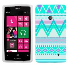 Amazon.com: Nokia Lumia 521 Aztech Andes Tribal White and Teal Pattern Phone Case Cover: Cell Phones & Accessories