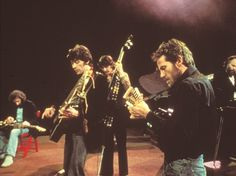 "The five original members of The Band — Richard Manuel, Robbie Robertson, Rick Danko, Levon Helm, and Garth Hudson — in United Artists' 1978 concert documentary ""The Last Waltz,"" directed by Martin Scorsese.  United Artists"