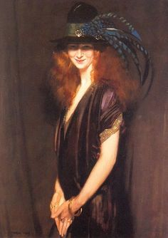 Bridgit - a picture of Miss Elvery (Beatrice Elvery), 1909, William Orpen.