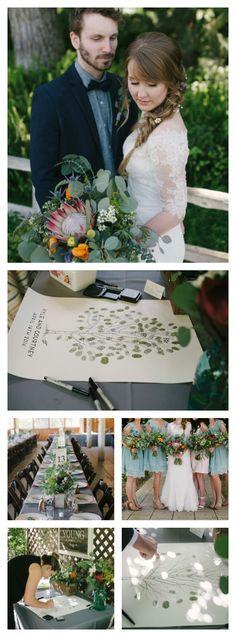 Fingerprint Tree, Wedding Guest Book Alternative, unique guestbook,  custom guest book, rustic wedding, guest book tree