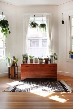 Living With White Walls: Rooms With Plants — Renters Solutions | Apartment Therapy #MinimalistDecor