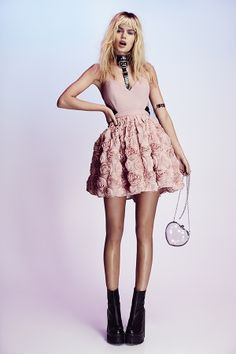 Nasty Gal Blushing Blooms Dress & Clear Out Shoulder Bag - boots coming soon!
