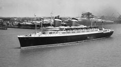 Completed in 1940 at Newport News Shipbuilding in Newport News, Virginia, the SS America was a 722-foot, 35,000-ton displacement ocean liner. Powered by four double reduction geared steam turbines, she was capable of carrying 1,200 passengers.