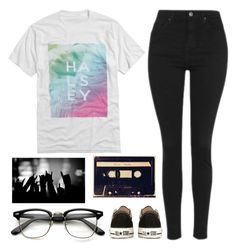 """""""Untitled #1088"""" by chill-outfits ❤ liked on Polyvore featuring Topshop and Converse"""