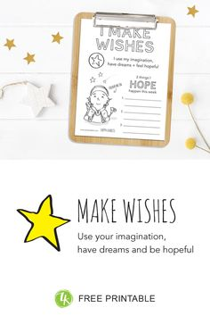 How to introduce kids to the happy habit of Making Wishes. Problem Solving, Free Printables, Wish, Relax, Fantasy, Shit Happens, Feelings, Happy, Cards