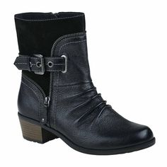 Earth Origins Dolly Womens Bootie ($90) ❤ liked on Polyvore featuring shoes, boots, ankle booties, earth origins boots, short boots, bootie boots, ankle bootie boots and ankle boots