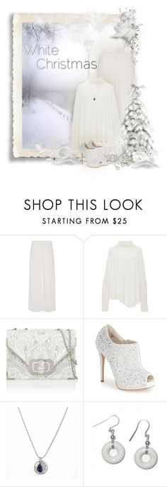 """White Christmas"" by eilselrenrag ❤ liked on Polyvore featuring Joseph, Sally Lapointe, Marchesa, Lauren Lorraine, leakeycollection and whitechristmas"