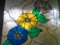 My painted glass window using Gallery Glass
