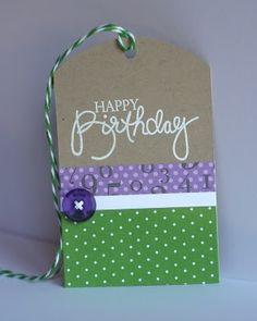Chavez Designs: Happy Birthday Tag