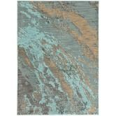 Found it at AllModern - Agave Marble Blue & Gray Area Rug
