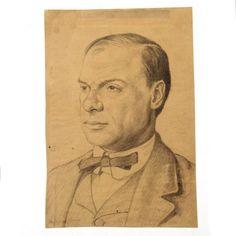 Hermann Struck - Julius Berd, Pencil on Paper, : Lot 49 Israel, Auction, Pencil, Portrait, Paper, Art, Men Portrait, Portrait Illustration, Kunst