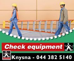 Make sure to check all your #equipment before you start work everyday. That includes #scaffolds and #ladders. It only takes a few minutes and can save you from serious injury. For expert advice and professional service, visit #PennypinchersKnysna. Our team will glady assist you!