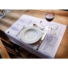 Great for kids learning table manners.Cheat Sheet Placemat by Donkey Products Comes in a set of two. Made of machine washable cotton.  sc 1 st  Pinterest & 17 Dining Mistakes Youu0027re Making and their simple fixes | Pinterest ...