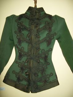 green soutache jacket 1890's