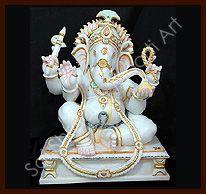 We are a famous name confluent in manufacturing, supplying and exporting decorative ganesh statue.