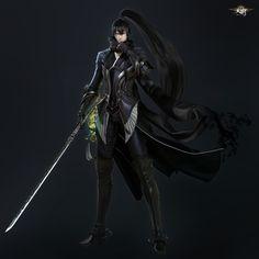 ArtStation - 天谕(tianyu) Online MMORPG character, seungmin Kim