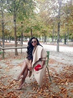 """Someday, I'll sit in a Parisian park looking this glamorous. I promise.  """"Style is my thing: PARISIAN AFFAIR"""""""