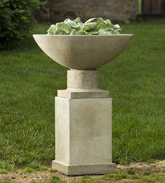 Savoy Pedestal cast stone pedestal made by Campania International