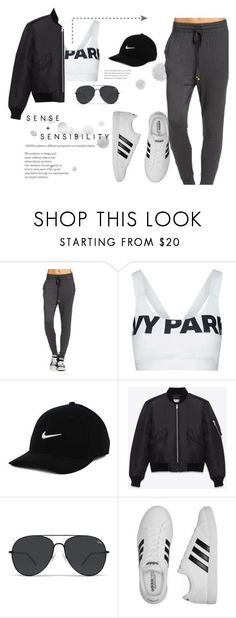 """""""Just Do It"""" by myyuccie on Polyvore featuring Topshop, NIKE, Yves Saint Laurent and adidas"""