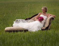 Bride in Green Field