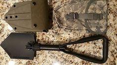 Ames USGI Compact E-Tool Shovel W// Molle ACU Camo Carrier