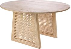 Table basse cannage en bois de sungkai et rotin M - HKliving - The Cool Republic