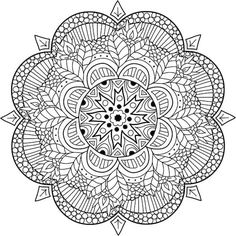 In Thailand, and other Tai countries, there's a Loi Krathong festival that takes place every year around the time of the full moon of the year. Pattern Coloring Pages, Mandala Coloring Pages, Free Printable Coloring Pages, Coloring Book Pages, Coloring Sheets, Mandala Artwork, Mandalas Drawing, Zentangle Patterns, Mandala Design