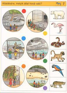 Gyermek kuckó: Logico - az állatkertben Free Preschool, Preschool Printables, Preschool Worksheets, Montessori Materials, Montessori Activities, Kindergarten Activities, Fine Motor Activities For Kids, Kids Learning, Kids Prints