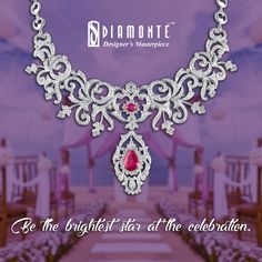 Sparkle at the wedding with our masterpiece diamond collection. #Diamonte #DiamondJewelry #EthnicJewelry #RoyalJewelry #girlsbestfriend #diamond #jewellery #lookgood #diamondsareforever #weddingseason #shaadiparty #weddingjewellery #bigfatindianwedding #weddingdiamond  Call us at +91 98100 22551 | Mail us at diamonte.gk@gmail.com or log on to www.diamontejewels.com.