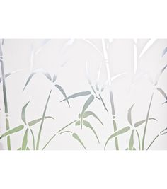 Add privacy and style to any glass surface with bamboo privacy window film. The classy design with bamboo leaves and shoots makes a feng-shui asian themed decor accent for your glass. These window fil