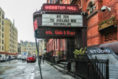 Webster Hall I will be comming back to you in a month!