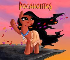 My Little Pony: Ponified Pocahontas ! by bitsyart on DeviantArt  #mlp #mlpfim #pegasister #brony #disney #pocahontas #princess #native #crossover #bronies #ponified