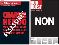 """Non"", ""Face à la barbarie"", la presse rend hommage à Charlie Hebdo"
