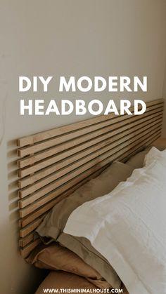 Diy Headboard With Lights, Diy Bed Headboard, Floating Headboard, Modern Headboard, Headboard With Shelves, Headboard Designs, Headboards For Beds, Creative Headboards Diy, Canvas Headboard