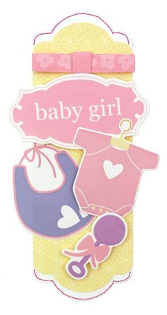 Fabulour Baby Girl Arrival Tag Idea from Creative Memories. #scrapbooking