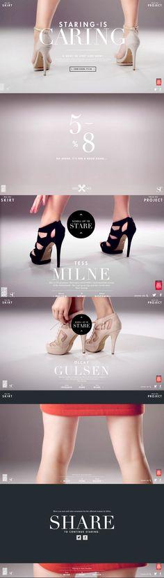 idea interesante para pagina web de zapatos y demas