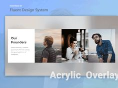 Recent introduction of new design system of Microsoft - Fluent Design System - Fascinated me. So, I am exploring around this new design language. Here's a little experiment on the Acrylic Overlay u...