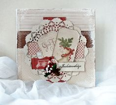 love the mixed media Mint crafting stories: Christmas Greetings ...