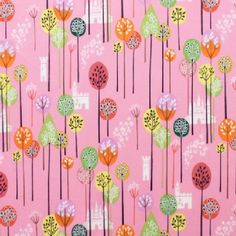 Alexander Henry Fabrics - Kids - Princess Kingdom - Enchanted Forest in Pink 8.50