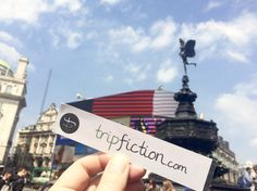 TripFiction pops up at Piccadilly Circus LONDON - choose your next top read by where it's set, it's a great way to get under the skin of a place www.tripfiction.com