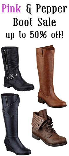 Pink and Pepper Boot Sale ~ up to 50% off!