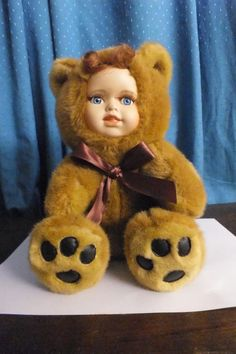 Other Dolls & Bears - Bear with Porcelain Face - Collectible 1980s for sale in Nelspruit (ID:201572372)