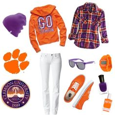 """Clemson!"" by alyssa-hughes on Polyvore"