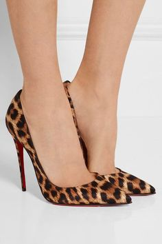 Christian Louboutin - So Kate 120 Leopard-print Satin Pumps - Leopard print - IT40.5