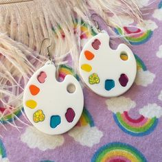 Your place to buy and sell all things handmade Weird Jewelry, Funky Jewelry, Cute Jewelry, Handmade Jewelry, Kawaii Jewelry, Jewlery, Funky Earrings, Diy Earrings, Wood Earrings