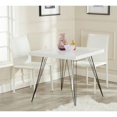 Safavieh Wolcott White/ Black Lacquer Accent Table | Overstock.com Shopping - Great Deals on Safavieh Coffee, Sofa & End Tables