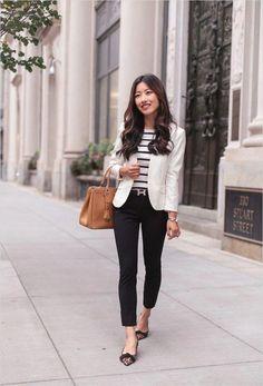 f4e86e1f72f7 45 Beautiful Work Outfit Ideas for Women In Flats 61 Workwear Black Pants  Leopard Flats 5