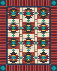 Southwest Style Quilt by Judit Hajdu   Quilting Pattern - Looking for your next project? You're going to love Southwest Style Quilt by designer Judit Hajdu. - via @Craftsy